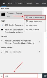 Blocked App for Your Protection - Command Prompt