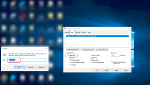 Apply System Configuration panel in Windows 7/8/10