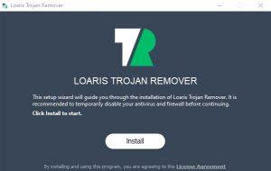 LOARIS TROJAN REMOVER Install