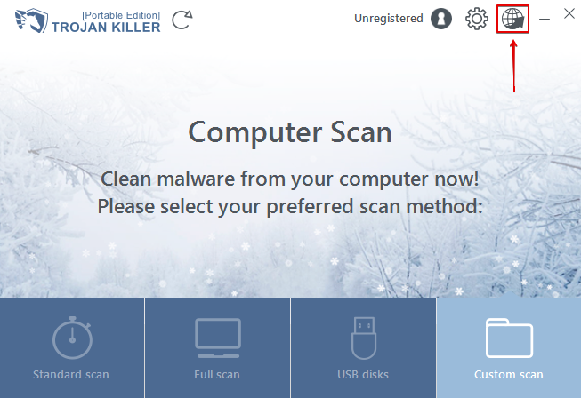 Icon to open the utility to reset browser settings with Trojan Killer