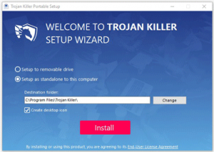 Trojan Killer - Click install button