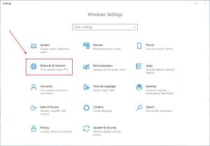 Windows 10 -Network and Internet