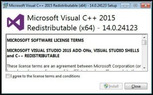 vcruntime140.dll - Microsoft Visual C++ 2015 Redistributable install