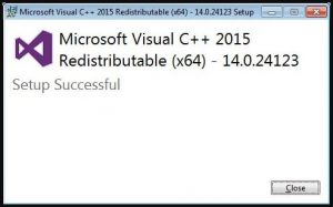 Microsoft Visual C++ - Setup Successful
