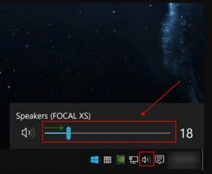Windows - speaker icon