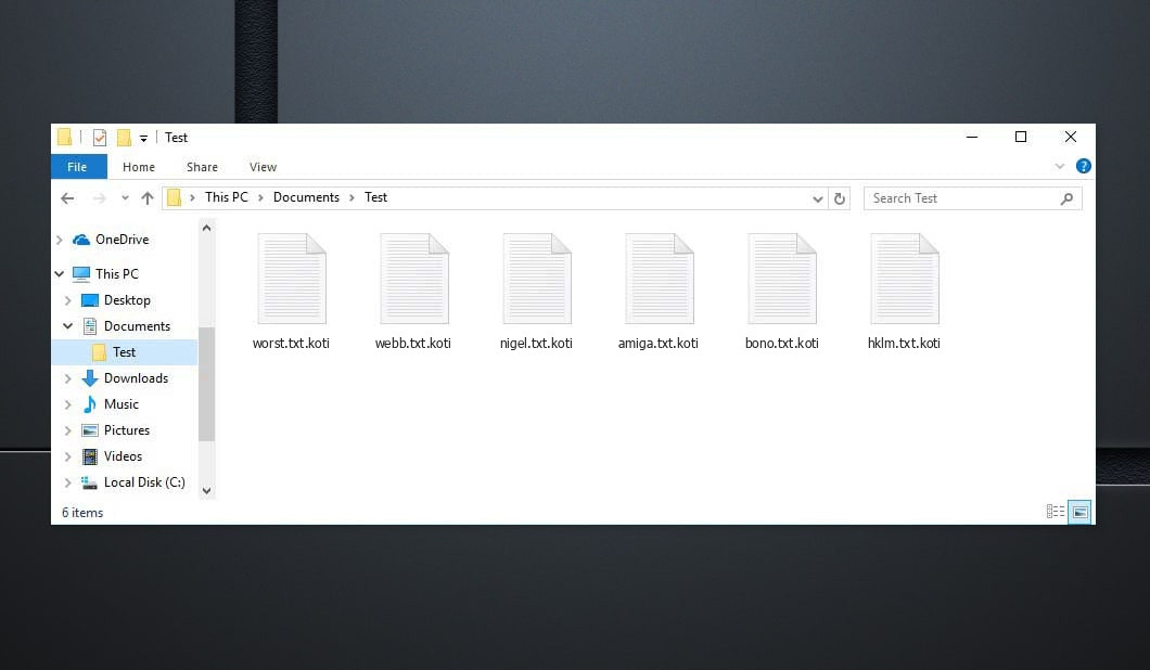 Koti Virus - crypted .koti files