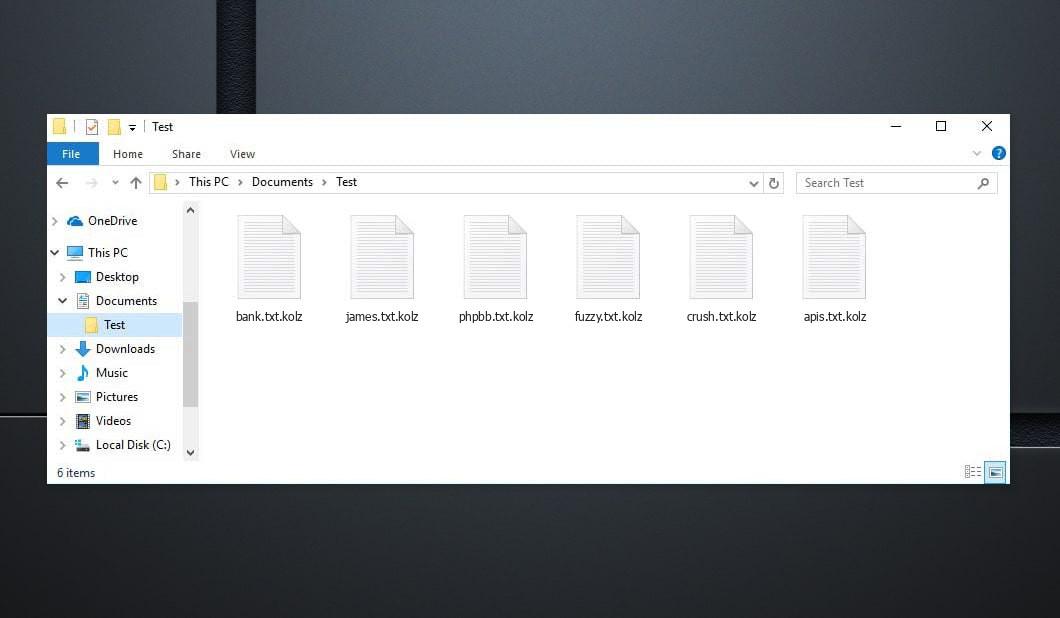 Kolz Virus - crypted .kolz files