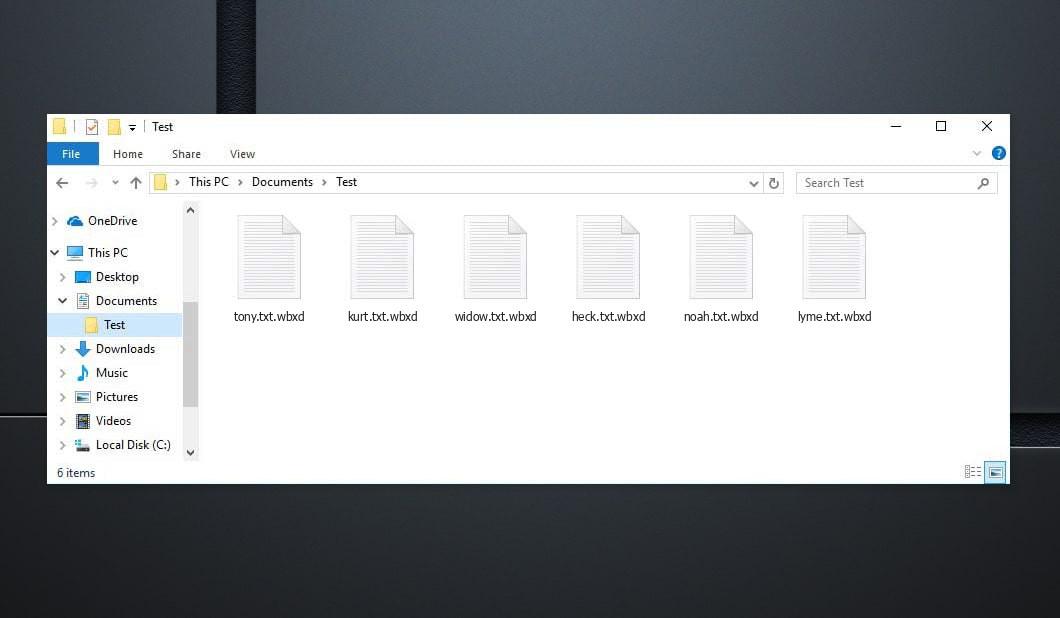 Wbxd Virus - crypted .wbxd files